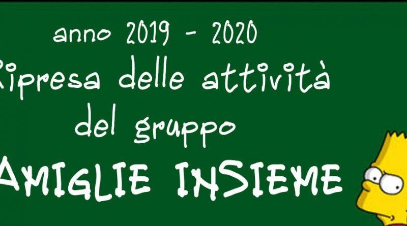 Incontro Famiglie Insieme – 29 Settembre 2019